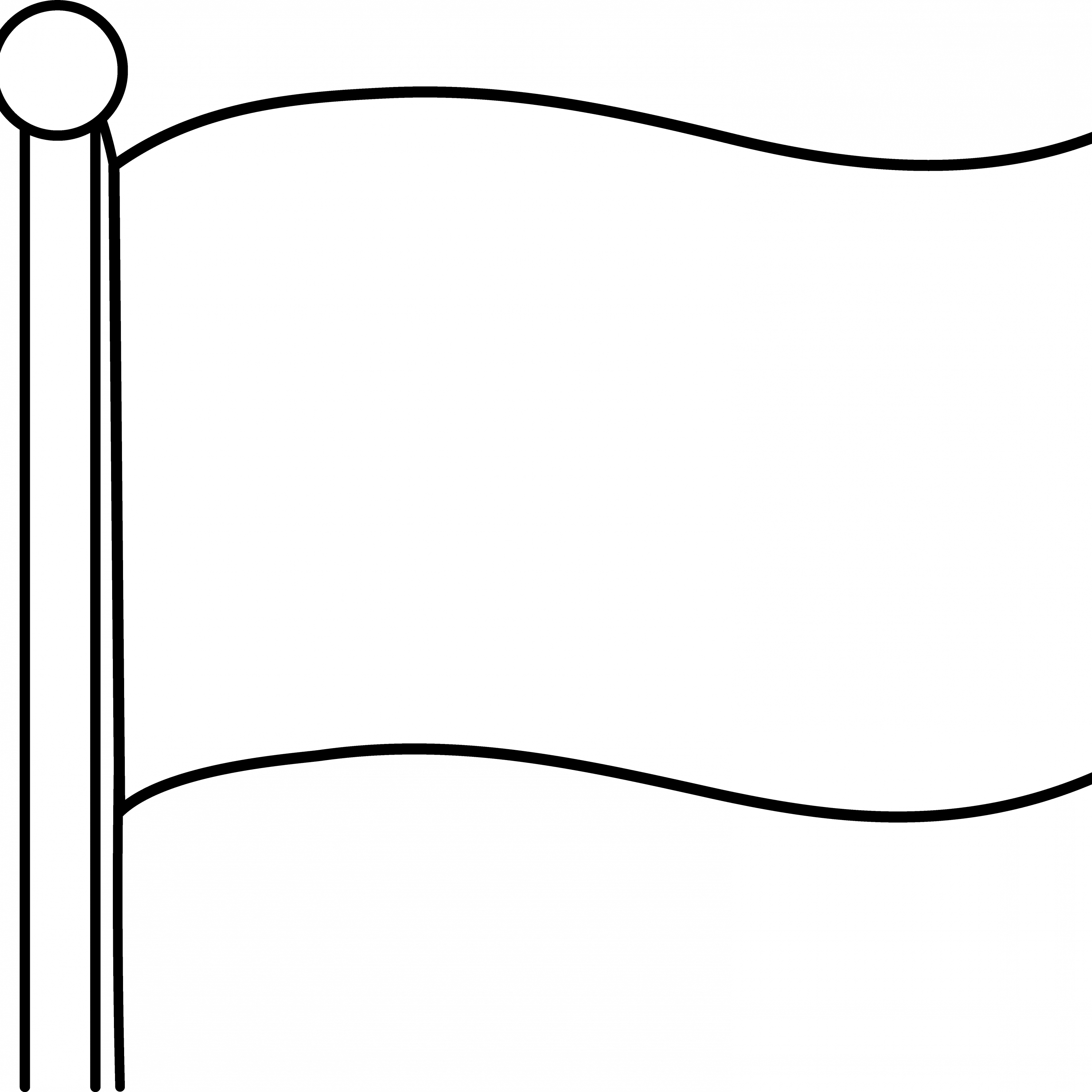blank flag Colouring Pages, White Flag Clip Art.