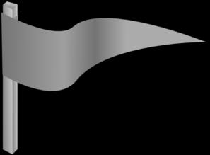 Waving Gray Flag Clip Art at Clker.com.