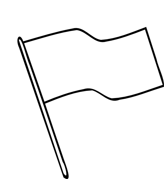 Plain Flag Wave Outline Clipart.