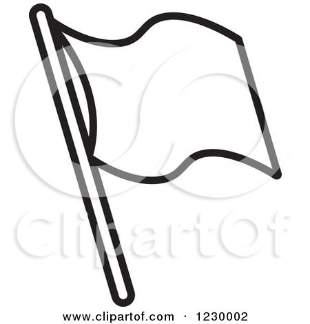 Waving Flag Clipart Blank.