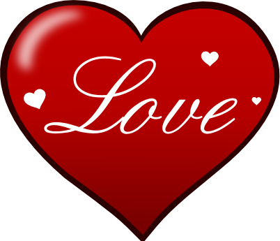 Plain red heart clipart.