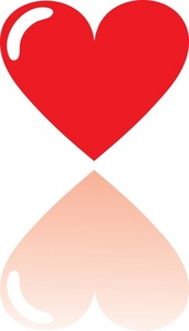 Plain Red Heart Graphic with a Drop Shadow.