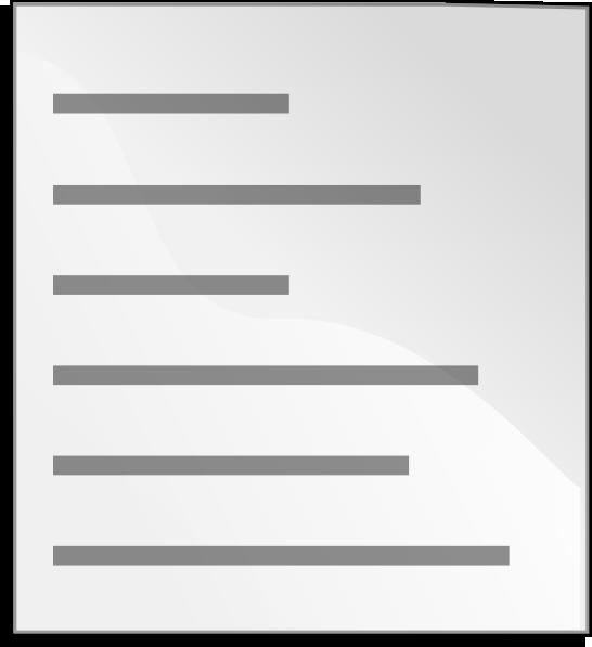 Plain Text File Icon Clip Art at Clker.com.