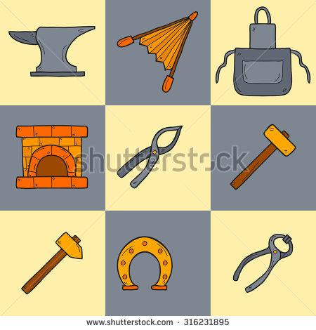 Cartoon Sledgehammer Stock Photos, Royalty.