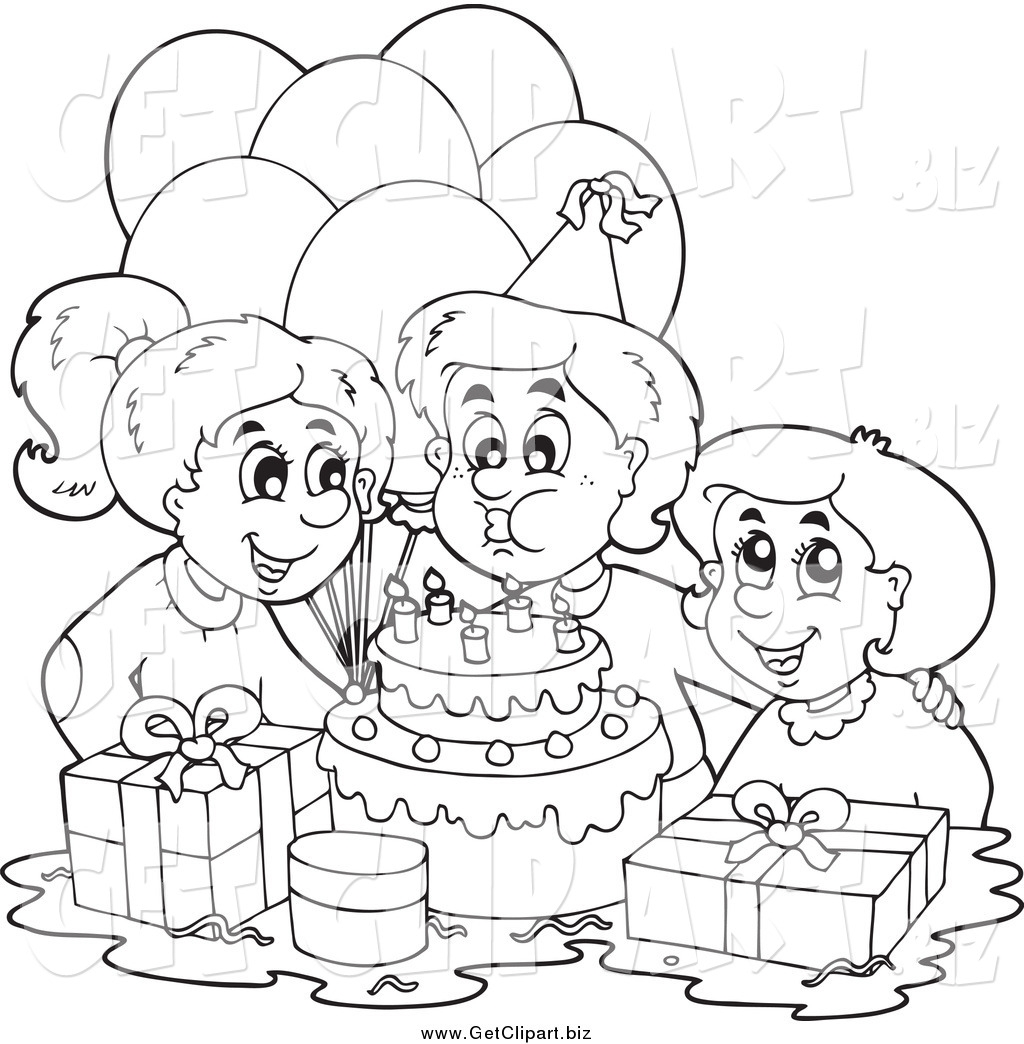 Clip Art Black and White Party.