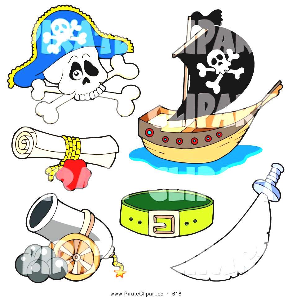 Treasure Map Symbols Clipart Vector Clip Art Of A Digital Collage.