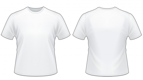 Blank Tshirt Template Worksheet in PNG.