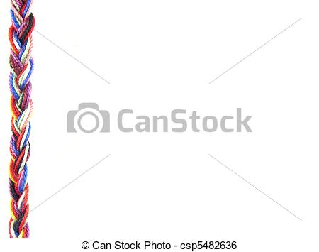 Stock Illustration of Background plait of wool csp5482636.