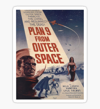 Plan 9 From Outer Space: Stickers.