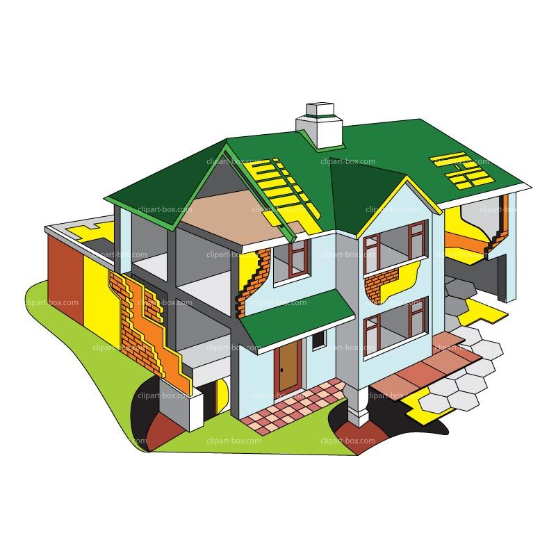 House plan clipart.