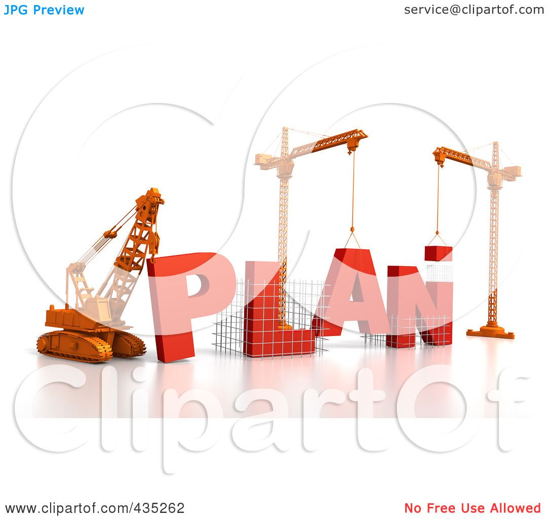 Plan for the construction clipart #2