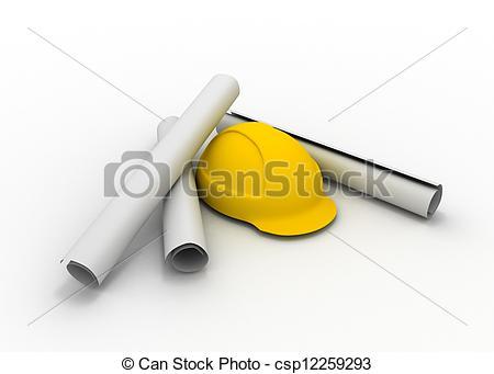 Stock Illustration of construction plan concept csp12259293.