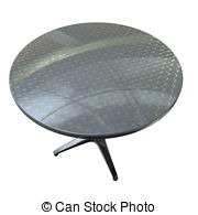 Shiny planar chrome round table Clipart and Stock Illustrations. 2.
