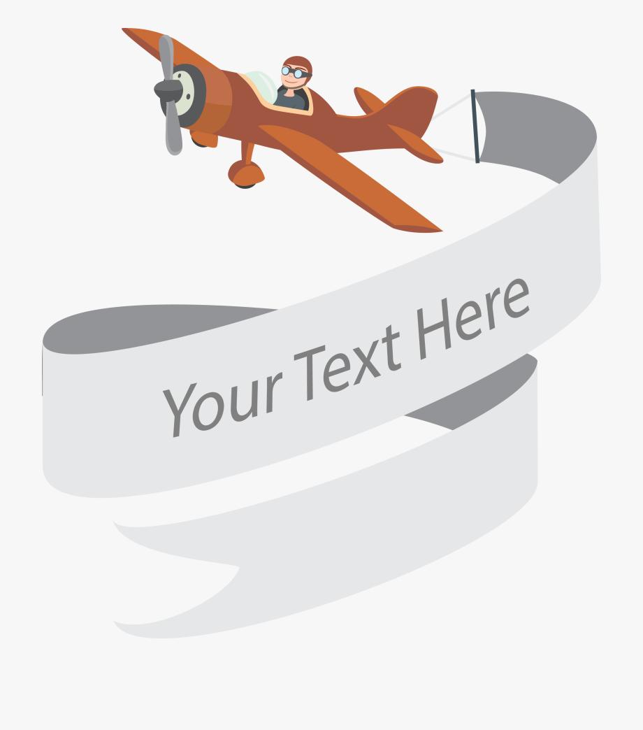 Airplane Web Banner Company Cartoon Pilot Transprent.