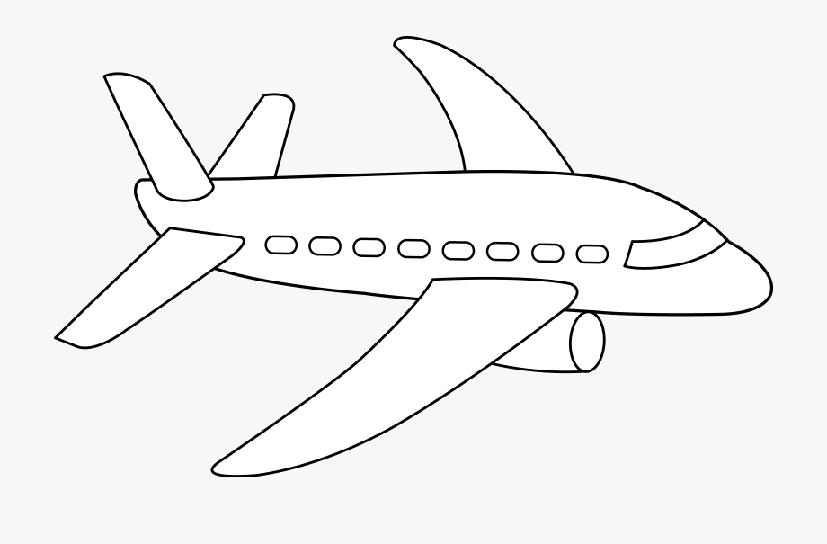 Airplane Clip Line , Transparent Cartoon, Free Cliparts.