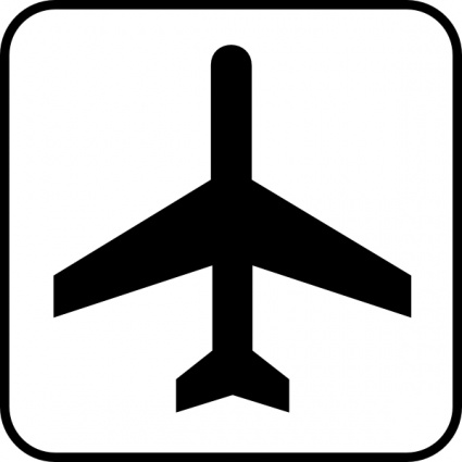 Image of Airplane Clipart Black and White #10584, Black And White.