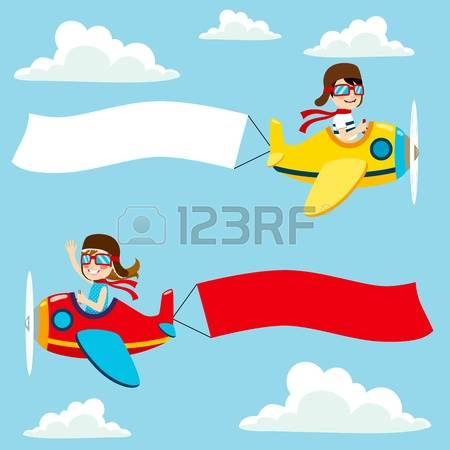 654 Plane Banner Kid Cliparts, Stock Vector And Royalty Free Plane.