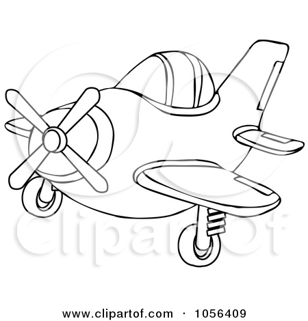 airplane clip art acoloring Vintage airplane clipart no.