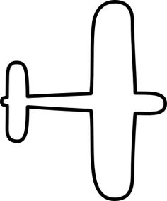 simple airplane outline cut out for decoration in red yellow and.