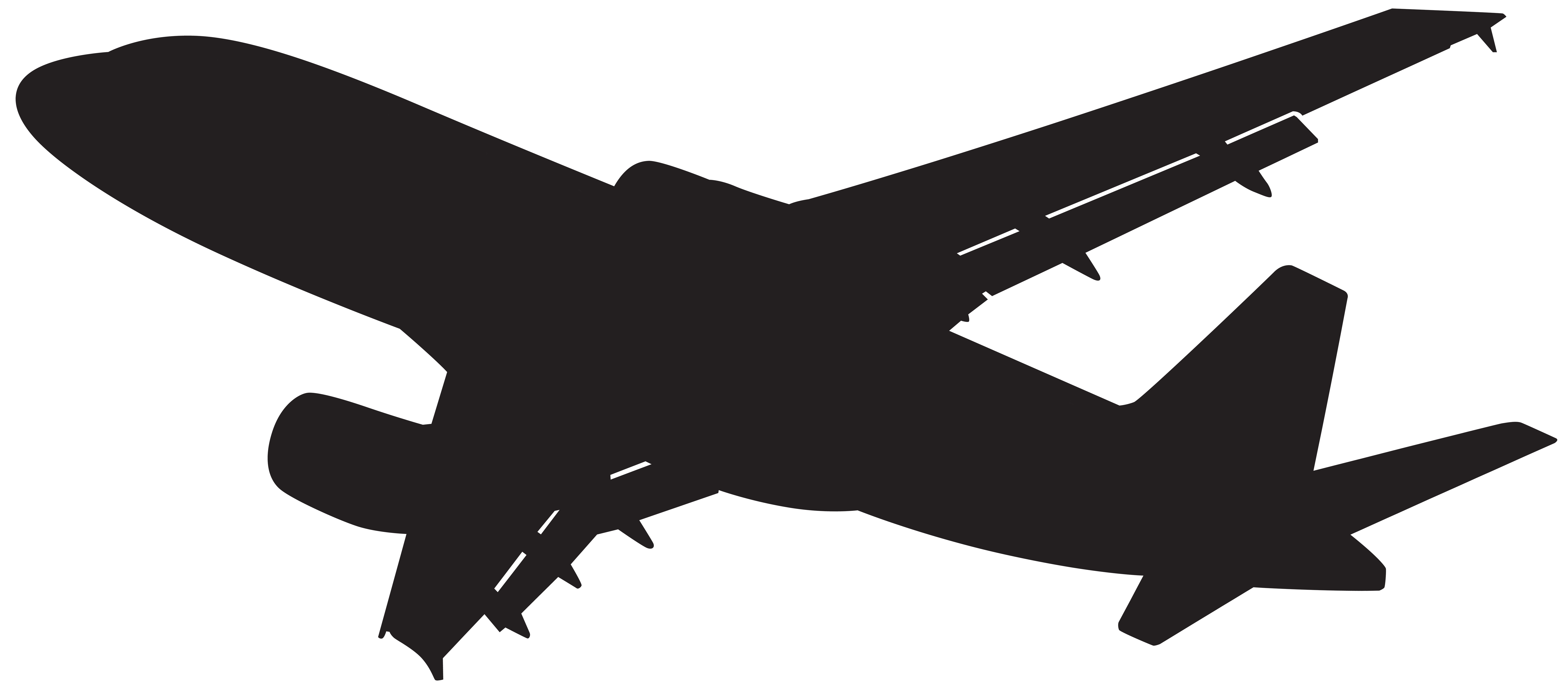 Plane Silhouette PNG Clip Art.