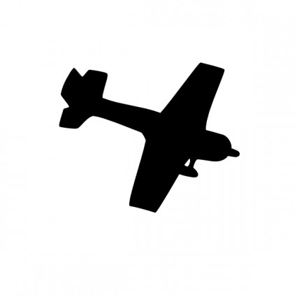 Vintage Airplane Clipart Silhouette.