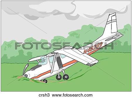 Drawing of Small Plane Crash crsh3.