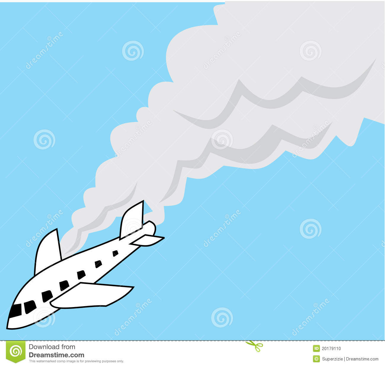 Plane Crash Stock Illustrations.