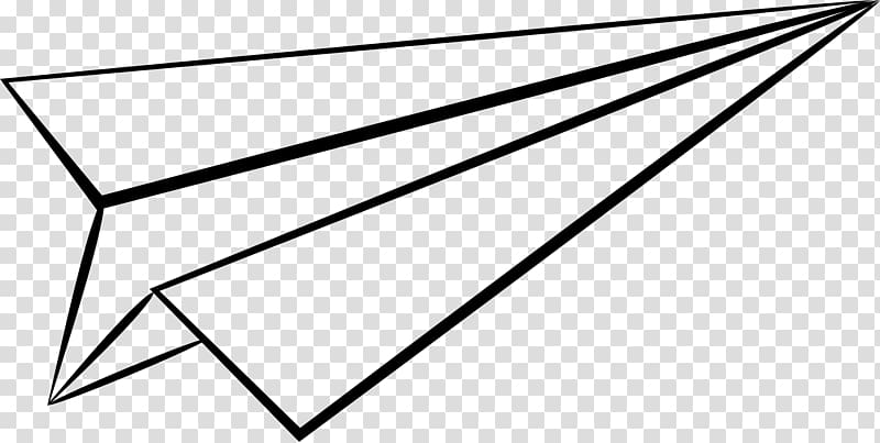 Airplane Paper plane Drawing , paper plane transparent.