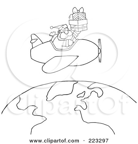 plane flying head on clipart #9