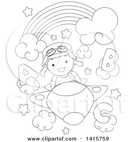 plane flying head on clipart #2