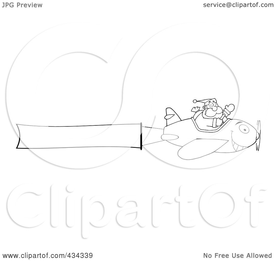 plane flying head on clipart #16