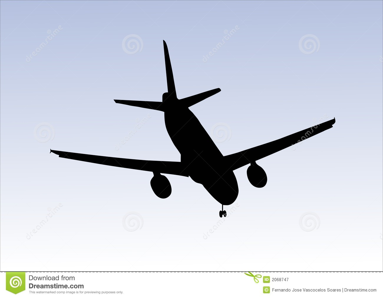 Aeroplane Landing Royalty Free Stock Photography.