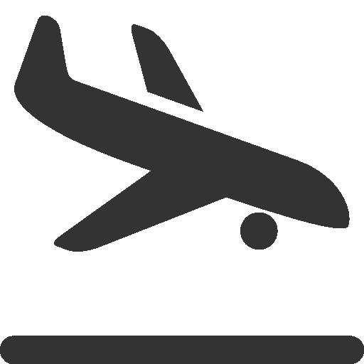 Plane Landing Clipart.