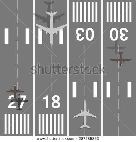 Airport Runway Stock Images, Royalty.