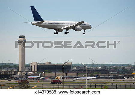 Pictures of Plane landing at Newark Liberty Airport. x14379588.
