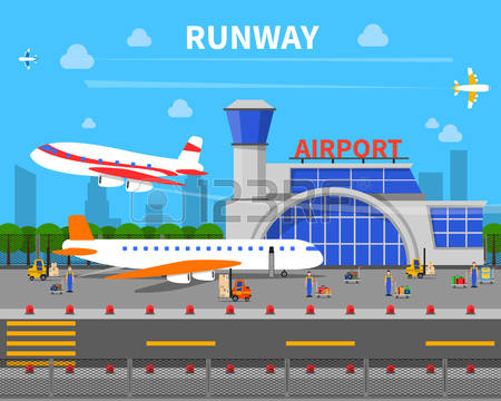 8,635 Airplane Landing Stock Vector Illustration And Royalty Free.
