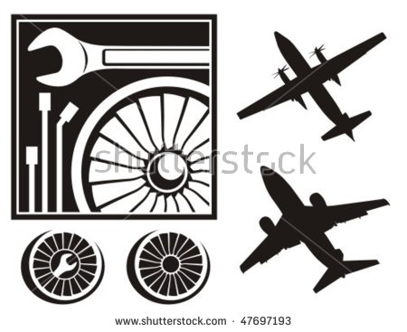 Aircraft Maintenance Stock Images, Royalty.