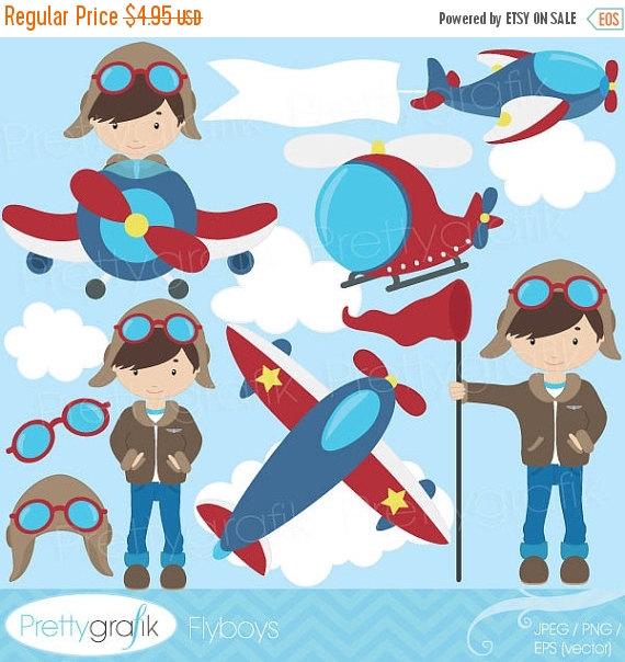 plane pilot clipart #4