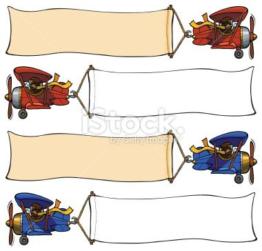 Collection of vintage airplanes towing banners..