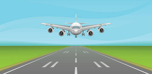 Airplane Runway Clip Art, Vector Images & Illustrations.