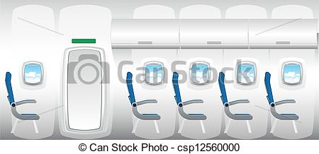 Vector Clipart of Illustration of plane.