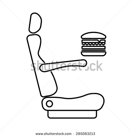 Heating Car Bus Train Plane Seat Stock Vector 285083237.