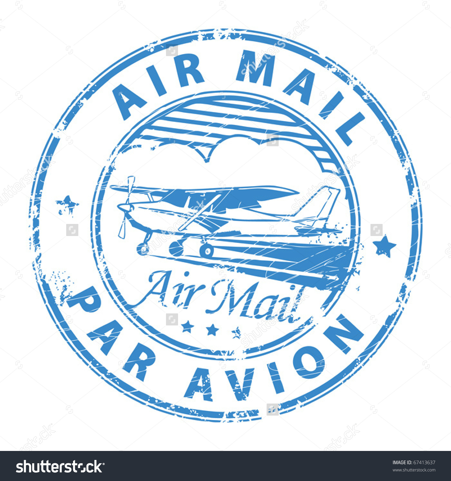 Grunge Rubber Stamp Plane Text Air Stock Vector 67413637.