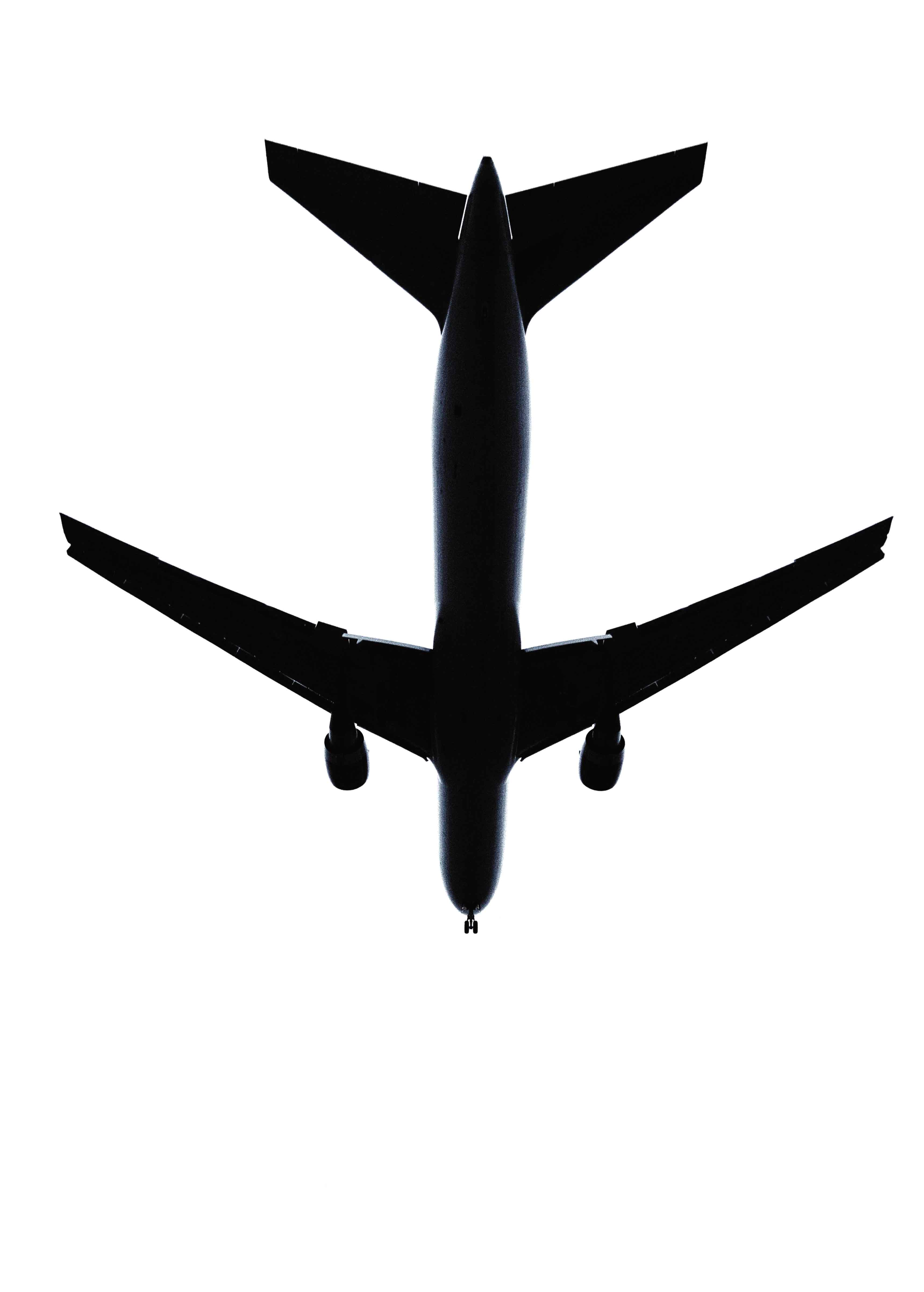 Top View Of A Plane.