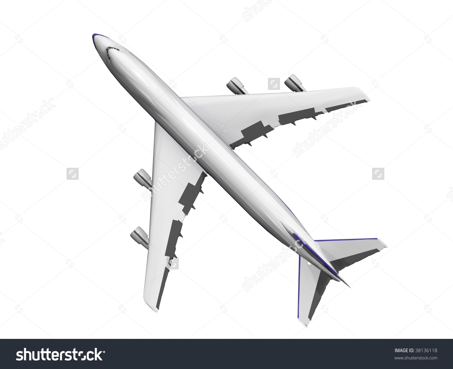 Airplane high wing plane top view clipart.