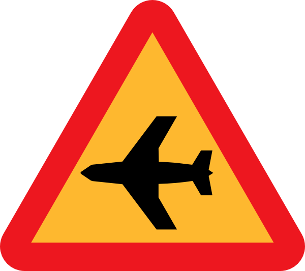 Airplane Roadsign Clip Art at Clker.com.