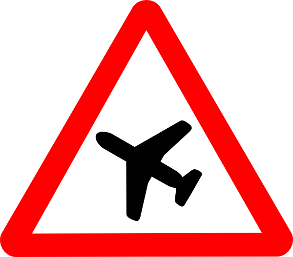Airplane Road Sign Clip Art at Clker.com.