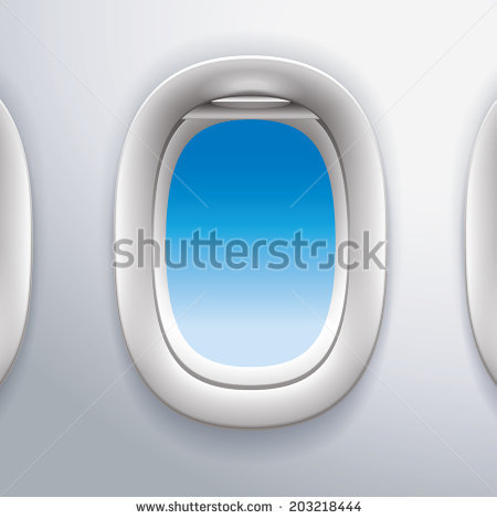 Airplane Window Stock Images, Royalty.