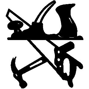 Hammer logo clip art.