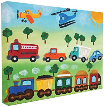 The Kids Room by Stupell Planes, Trains, and Automobiles Wall Plaque, 16x20.
